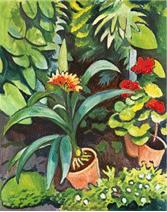 August Macke – Blumen im Garten
